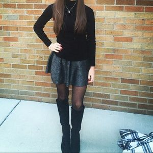 Gray/black sparkle skirt